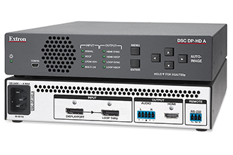 Extron Introduces DisplayPort to HDMI Scaler with Audio De-Embedding