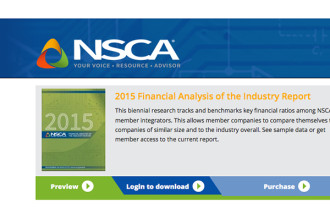 NSCA's Electronic Systems Outlook is Updated