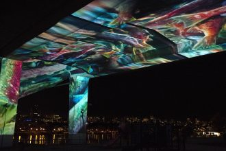 Christie and Applied Electronics transform Vancouver's Cambie Street Bridge into virtual ocean