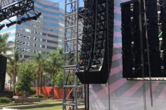 Powersoft and BOSE Professional Amplify Pershing Square Downtown Stage Concert