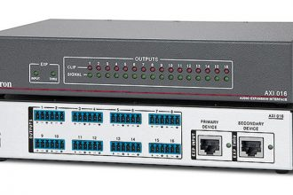 Extron Ships 16 Output Audio Expansion Interface for DMP 128 Plus Audio DSP Processors