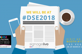 Signagelive are exhibiting and showcasing latest innovations at DSE