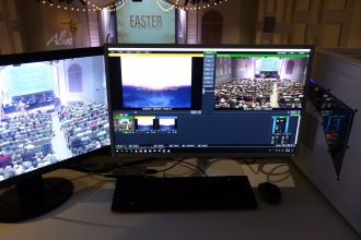 Auburn Grace Community Church Streams Sermons Live to YouTube with AJA Kit and vMix
